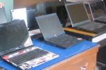 Sejumlah laptop yang dijadikan barang bukti pencurian. (Sunartono/JIBI/Harian Jogja)