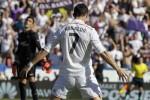 Selebrasi Cristiano Ronaldo saat menciptakan gol ke gawang Levante. JIBI/Reuters/Hino Kalis