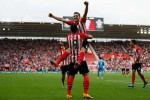 Pemain Southampton meluapkan kegembiraan seusai mencukur Sunderland. Ist/detiksport