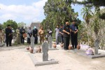 Jajaran Pejabat Pemkab Kulonprogo berziarah ke makam mantan Bupati Kulonprogo, Senin (13/10/2014). (Foto Dok Humas)