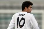 Pemain Real Madrid di bawah 19 tahun Enzo Alan Fernandez Zidane yang merupakan putra sulung legenda Prancis Zenidane Zidane beraksi.  JIBI/Reuters/Charles Platiau