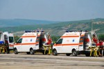 Ilustrasi deretan ambulans Volkswagen Transporter (gomotors.net)