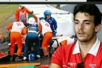 Pembalap F1 Jules Bianchi yang mengalami kecelakaan di GP Jepang silam, sadar dari koma. Ist/express.co.uk