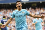 Striker Manchester City Sergio Aguero berburu kado indah di laga ke-100. Ist/telegraph.co.uk