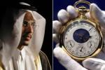 Sheikh Saud bin Mohammed Al –Thani yang akan menjual jam kutukan (Mirror)