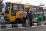 Sebuah bus angkutan umum tampak masih beroperasi melayani penumpang di depan Pasar Condongcatur, Depok, Sleman, Rabu (19/11/2014) pagi.(Rima Sekarani/JIBI/Harian Jogja)