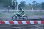 Seorang crosser tengah berlaga di sirkuit Wonolelo, Widodomartani Ngemplak Sleman, Sabtu (22/11/2014) dalam Grasstrack dan Motocross Saparan Wonolelo. (Sunartono/JIBI/Harian Jogja)