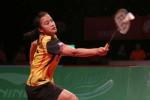 Hana Ramadhini saat bertanding melawan pemain tunggal putri Vietnam Dinh Thi Phuong Hong. Ist/PBSI