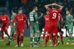 Reaksi para pemain Liverpool dan Ludogorets seusai bertanding dengan hasil imbang. JIBI/Reuters/Dok