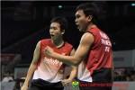 Ganda putra Ahsan/Hendra Setyawan melaju ke perempatfinal di Hong Kong Open. Ist/badmintonindonesia.org