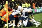 Para pemain Tottenham Hotspur merayakan kemenangan mereka atas Hull City. Ist/Reuters/David Degea