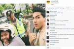 Aron Ashab ditilang Polisi (Instagram)