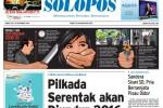 Halaman Depan Harian Umum Solopos edisi Kamis, 18 Desember 2014