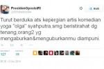 Kicauan Farhat Abbas tentang kematian Olga Syahputra (Twitter)