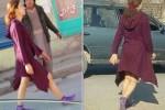 Perempuan yang mempertontonkan kakinya di Kabul, Afghanistan (nypost.com)