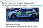 Gambar Mobil Polisi yang dibully Netizen (twitter)
