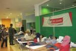Suasana donor darah Sarihusada dan Taman Pintar di Ex-Hall Taman Pintar, Minggu (21/12/2014). (Joko Nugroho/JIBI/Harian Jogja)