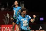 Ekspresi Lee Yong Dae saat berpasangan dengan Fajar Alfian (Badmintonindonesia.org)