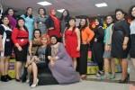 Kontes Model Wanita Berbadan Besar di Bogor, Sabtu (24/1/2015). (JIBI/Solopos/Antara/Arif Firmansyah)