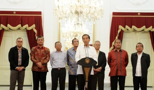 Konferensi pers Presiden Jokowi terkait KPK vs Polri, Minggu (25/1/2015). (JIBI/Solopos/Antara/Setpres-Intan)