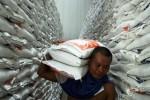Pekerja melakukan bongkar muat beras di Gudang Bulog Banyakan Sub Divre V Kediri, Jawa Timur, Rabu (7/1/2015). Beras Bulog itu selanjutnya didistribusikan ke wilayah seputaran Kediri. Bulog Sub Divre V Kediri menggelar operasi pasar khusus cadangan beras pemerintah (OPK CBP) dengan menyalurkan 3.182 ton beras untuk warga miskin di Kediri. Langkah itu dimaksudkan untuk mengisi program beras untuk rakyat miskin (raskin) 2015 yang saat ini masih dalam tahap sosialisasi dari pemerintah pusat, serta untuk mengantisipasi terjadinya gejolak harga beras di pasaran. (JIBI/Solopos/Antara/Rudi Mulya)