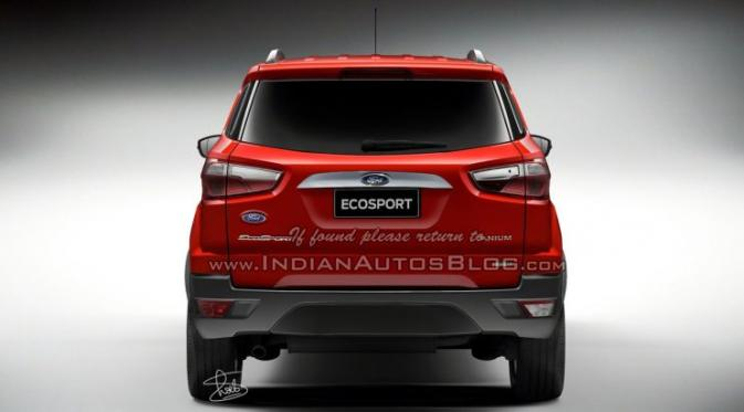 Ford Ecosport Facelift 2015 (Indianautosblog)