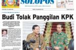 Halaman Depan Harian Umum Solopos edisi Jumat, 30 Januari 2015