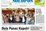 Halaman Depan Harian Umum Solopos edisi Kamis, 15 Januari 2015