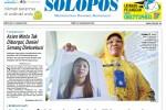 Halaman Depan Harian Umum Solopos edisi Sabtu, 17 Januari 2015