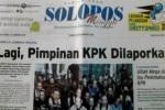 Halaman depan Harian Umum Solopos edisi Minggu, 25 Januari 2015