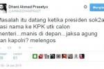 Kicauan Ahmad Dhani terkait masalah KPK vs Polri (Twitter)