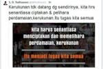 Kicauan SBY (Twitter)