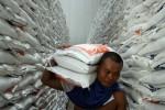 Pekerja mengangkut raskin di Gudang Bulog Kediri (JIBI/Solopos/Antara/Rudi Mulya)