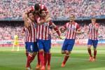 Para pemain Atletico Madrid merayakan kemenangan dalam sebuah pertandingan. Ist/dok/ilustrasi