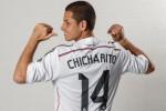 """Pemain Real Madrid Javier """"Chicharito"""" Hernandez dikabarkan akan hijrah ke Lazio. Ist/dok"""