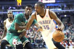 Kevin Durant (35) menjadi bintang kemenangan Oklahoma atas Miami Heat (JIBI/Reuters/David Banks-USA TODAY Sports)