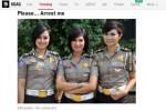 Foto 3 polwan jadi trending situs 9GAG (9GAG.com)