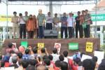 Tokoh Muhamadiyah, Ahmad Syafii Maarif bersama ratusan perwakilan dari Muhammadiyah menggelar aksi damai. (JIBI/Harian Jogja/Humas UMY)