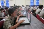 Ratusan Brigadir Polwan menjalani pelatihan komputer dan internet yang diselenggaran BSI di gedung serbaguna Mapolda DIY, Rabu (28/1/2015). (JIBI/Harian Jogja/Sunartono)