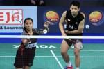 Pasangan ganda campuran Riky/Richi menjuara Syed Modi International Badminton Championships. Ist/pbsi