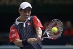 Kei Nishikori lolos ke babak 8 besar Australian Open 2015 setelah kalahkan David Ferrer (Reuters/Benoit Tessier)