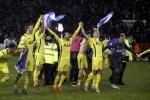 Para pemain Tottenham Hotspur merayakan kemenangan seusai kalahkan Sheffield United. JIBI/Rtr/Andrew Yates