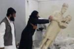 Anggota ISIS menghancurkan patung bernilai sejarah tinggi (Liputan6.com)