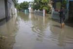 Banjir di Kampung Kaliwingko, Desa Madegondo, Sukoharjo, Jumat (20/2/2015). (Moh. Khodiq Duhri/JIBI/Solopos)