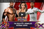 Duel The Rock dan Ronaldo di ring WWE (Istimewa/Youtube)