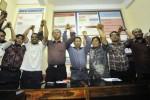 Tim advokasi untuk Abraham Samad di Makassar, Selasa (17/2/2015). (JIBI/Solopos/Antara/Yusran Uccang)