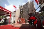 Megawati menyampaikan pidato politik di Solo, Jumat (13/2/2015). (Reza Fitriyanto/JIBI/Solopos)