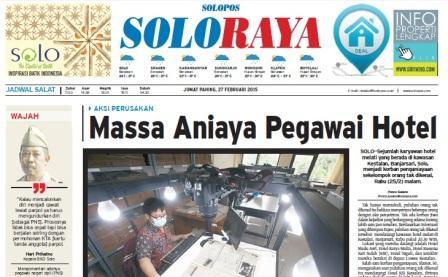 Halaman Soloraya Harian Umum Solopos edisi Jumat, 27 Februari 2015