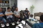 Bakal Calon Bupati Boyolali, Profesor Dr Soejarwo (paling kanan) mengunjungi Solopos (Haryo Prabancono/JIBI/Solopos)
