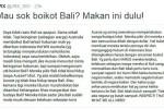 #BOYCOTTBALI TRENDING TOPIC : Begini Pernyataan SID Soal Seruan Boikot Bali